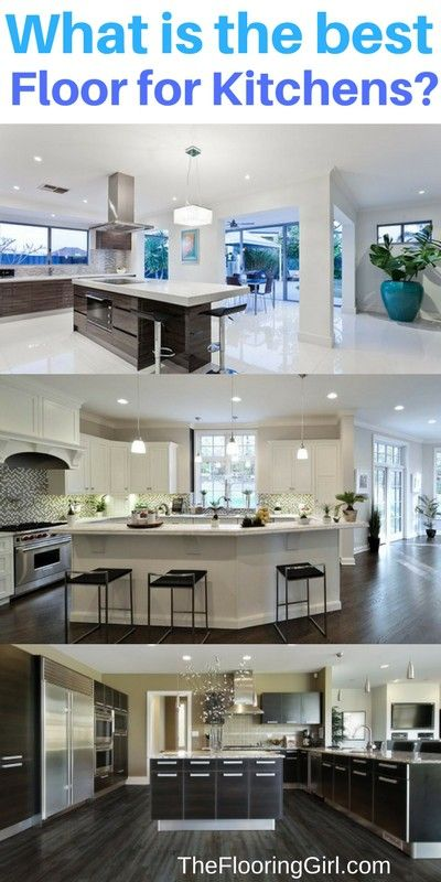 What is the Best Floor for a Kitchen? | The Flooring Girl.  Top choices for kitchen floors.  Pros and cons for hardwood, tile, luxury vinyl, coretec plus, cork, linoleum, laminate, bamboo.