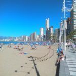 Benidorm, a popular package holiday and seaside resort in Spain