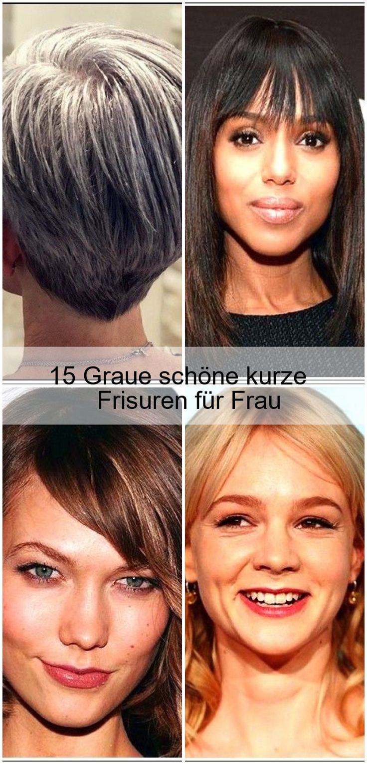15 Gray beautiful short hairstyles for woman