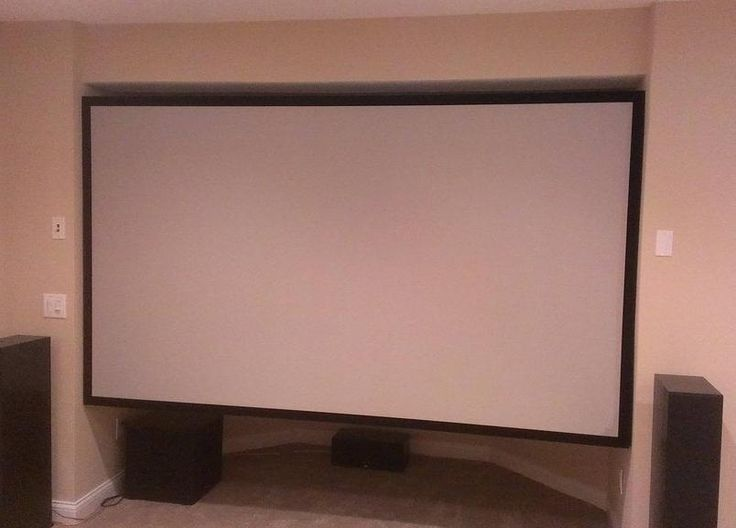 Save Money on Your Home Theater with This Pro-Looking DIY Projector Screen for the basement