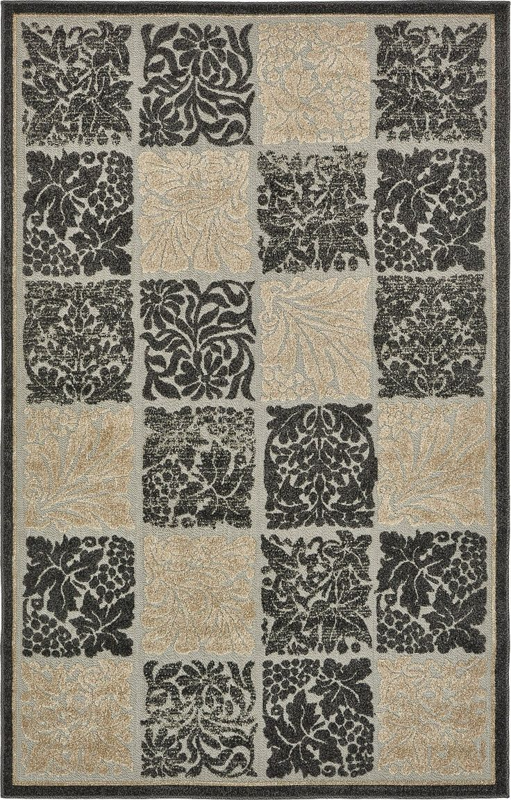 A2Z Rug Indoor/Outdoor Rug Black 5' x 8' -Feet Transitional Collection Area Rugs - Perfect for Outdoor Carpet