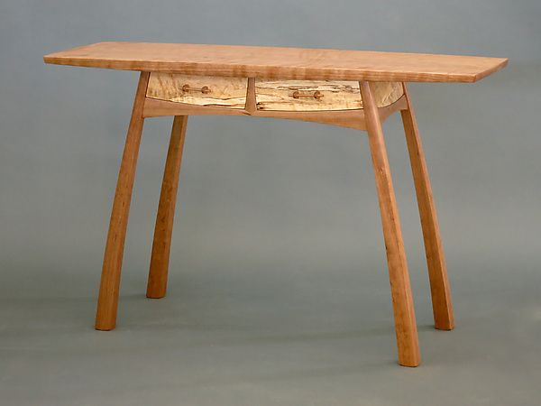 Two-Drawer Hall Table by Steven M. White: Wood Console Table available at www.artfulhome.com
