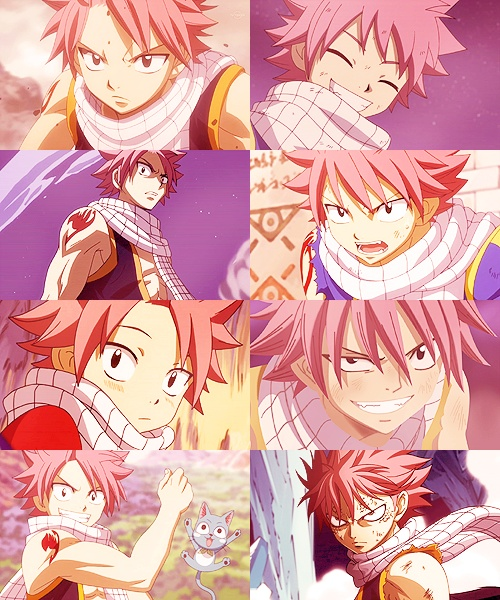 Natsu--the guy with the best smile and the best angry face ever