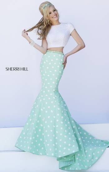 This vintage inspired dress would be perfect for a spring prom! Sherri Hill 2014 Spring Collection. SherriHill.com