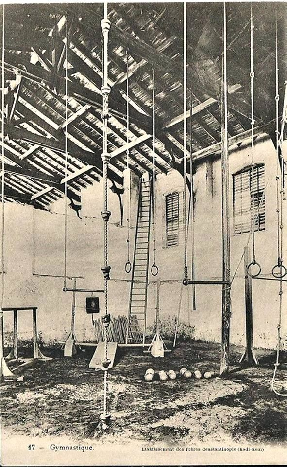 Kadıköy Jimnastik kulübü salonu 1900'lerin başı - Kadikeuy gymnastique club, Istanbul.