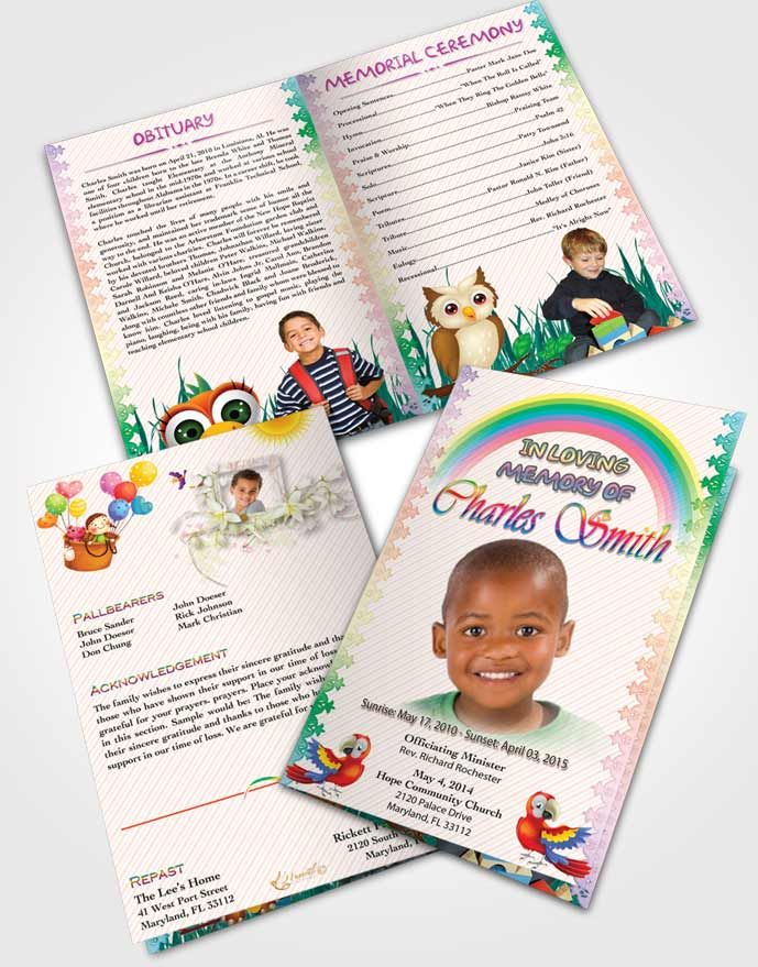 Bifold Order of Service Obituary Template Brochure A Childs Passing