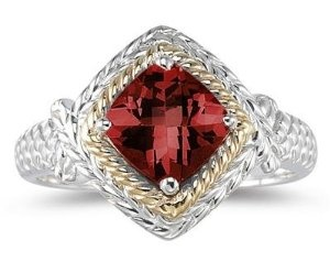 Szul  1.5ct Garnet Ring in 14K Yellow Gold And Silver  Price: $299.00  Sale: $99.00