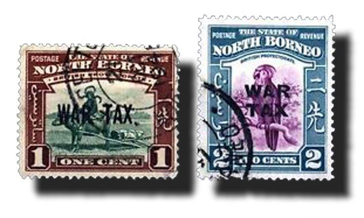 1841 Borneo del Nord  Tasse di guerra