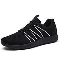 Heren+Sneakers+Comfortabel+Tule+Lente+Zomer+Herfst+Winter+Kantoor+&+Werk+Casual+Sport+Wandelen+Veters+Magic+tape+Platte+hakZwart+Grijs+–+EUR+€+60.34