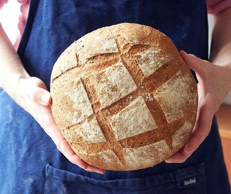 Eltefritt brød, eller grytebrød som det også heter, krever lite av deg utover litt planlegging. Oppskriften gir ett stort brød.