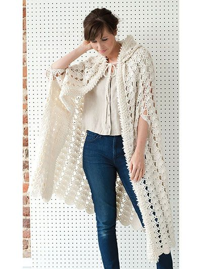 Vintage-style clothing is always in fashion! Available in 3 lengths, this crochet pattern utilizes shell stitches and loop stitches to create a unique piece you'll enjoy wearing! Crocheted using worsted-weight yarn, this cape is a cozy and fun piece for any wardrobe.