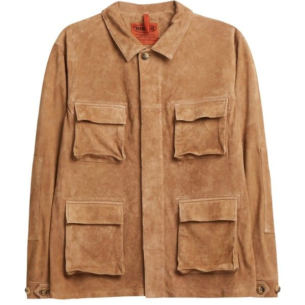 MISSONI Suede Field Jacket ($3,492) ❤ liked on Polyvore featuring men's fashion, men's clothing, men's outerwear, men's jackets, mens suede leather jacket, mens suede jacket, mens brown suede jacket and mens brown jacket