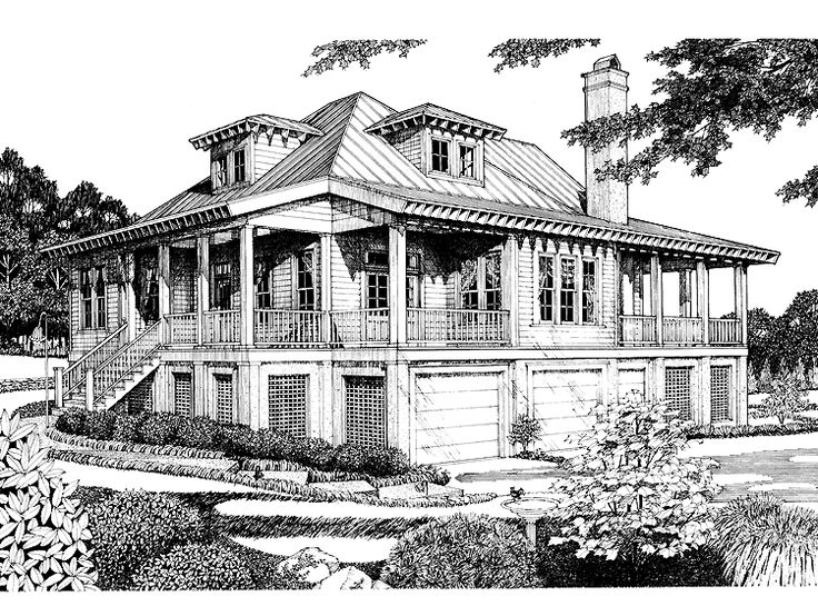 22 best low country house plans images on pinterest for Low country home plans