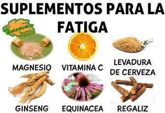 suplementos con plantas alimentos vitaminas y minerales para la fatiga cansancio o agotamiento
