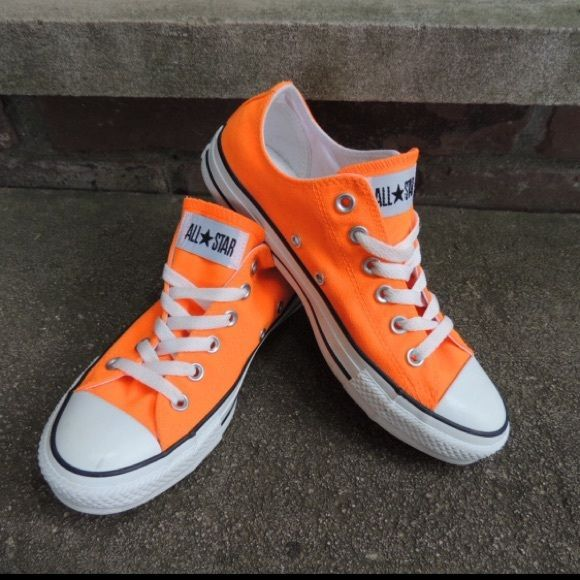 03f8b56b0fda95 Converse Neon Orange Size 7 Super cute !!! Neon Orange Converse Size 7 Like  New Condition Worn Once Converse Shoes Athletic Shoes