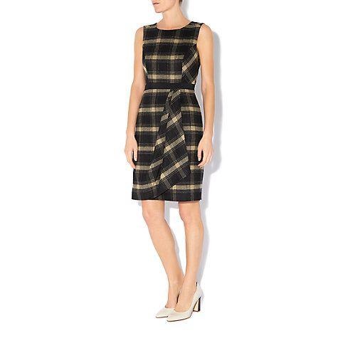 Buy Hobbs Josephine Dress, Black Camel Online at johnlewis.com