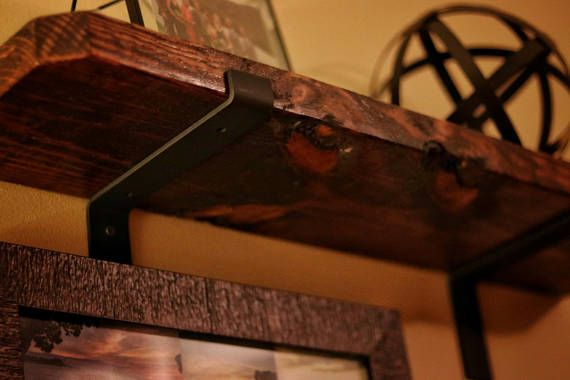 Hand crafted steel shelf brackets These steel brackets are custom, hand made, and look amazing. They will help create whatever look you are going for. This Listing is for1 BRACKET Quantity: 1 (You will need to order at least 2 brackets to support shelf) Shipping Handling Time: