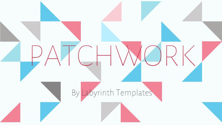 The 19 best beautiful powerpoint templates images on pinterest patchwork is our latest template for powerpoint we based it off the popular look of patchwork quilts with a modern twist its fun quirky and fresh toneelgroepblik Image collections