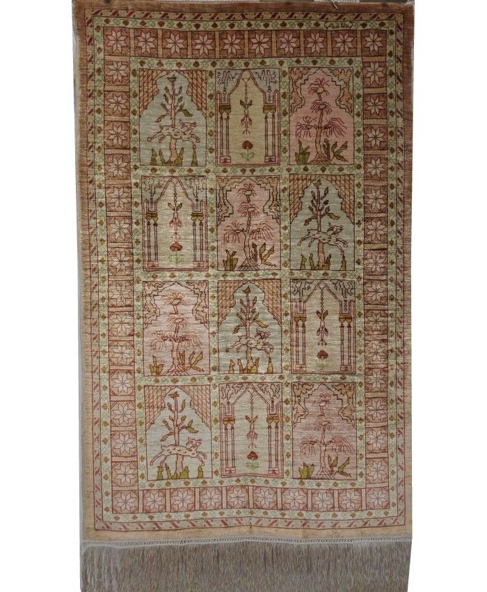 Handmade Turkish Hereke Original Silk Carpet – F…