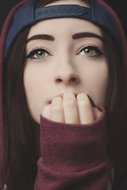 girl, eyes, make up, indie, girl tumblr, pretty, cute ...