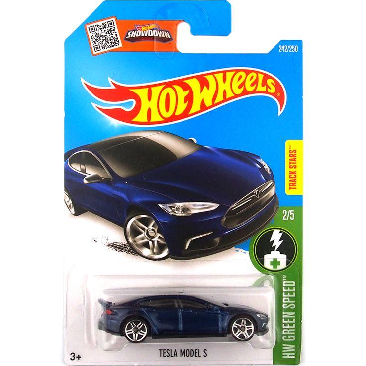 Hot Sale Hot Wheels 2016 Tesla model S blue cars Models Metal Diecast Car Collection Kids Toys Vehicle For Children