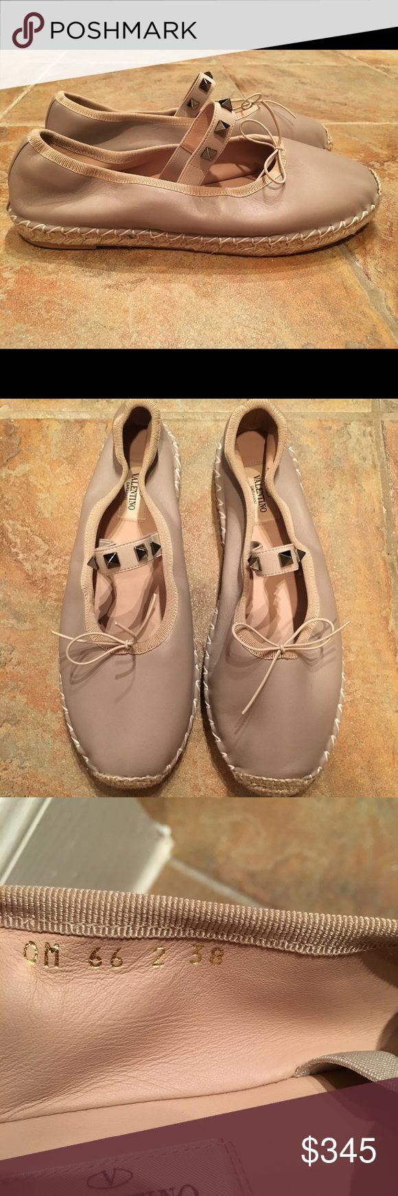 Valentino Rockstud Espadrille Ballet Flat Nude 7.5 Valentino Rockstud Espadrille Ballet Flat Nude $550  Size 7.5 US Valentino Shoes Espadrilles