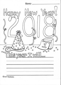 new years resolution coloring pages | Free New Year's Resolution Fun Worksheet for 2019 ...