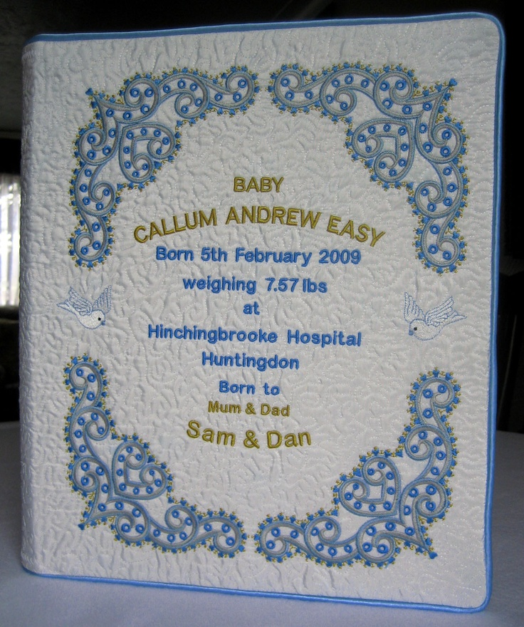 Front of the baby book