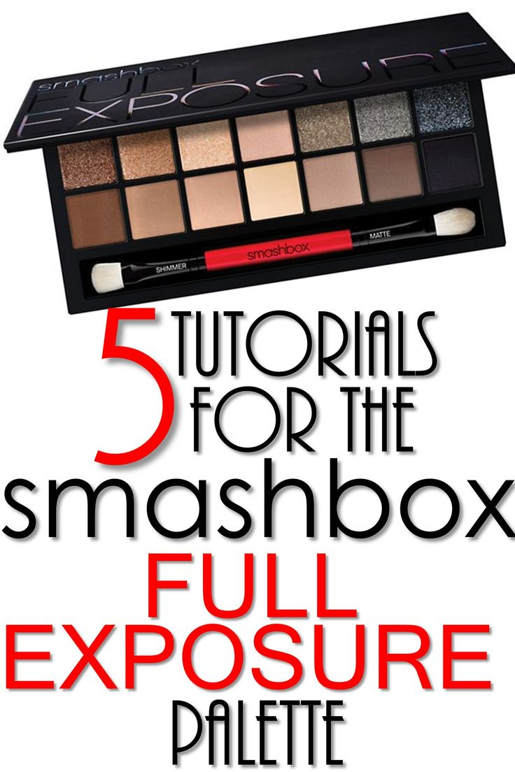 5 Smashbox Full Exposure Palette Tutorials. I have this palette. This could be useful