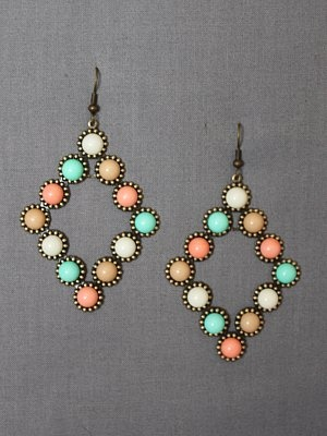 Ohhhhh these are so pretty!: Pretty Earrings, Big Earrings, Pastel Earrings, Cute Earrings, Pretty Colors, Coral Earrings, Dots Earrings, Pastel Colors, Amazing Jewelry