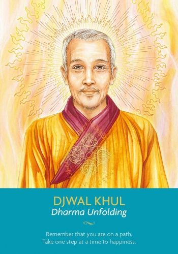 When Djwal Khul appears in a reading, he reminds you that your path is unfolding as it should. Take one step at a time and remember that your only spiritual function is to be happy. You are a powerful person with many lessons under your belt and a real capacity to share your wisdom with the world. Take the time to go over what you have learned recently, recognize the strengths it has brought you http://www.healyourlife.com/oracle-cards/simple-reading/19839