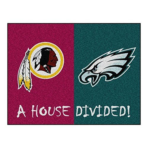 """NFL House Divided - Redskins/Eagles Rug, 34 x 45/Small, Black by Fanmats. NFL House Divided - Redskins/Eagles Rug, 34 x 45/Small, Black. 34"""" x 45""""/Small."""