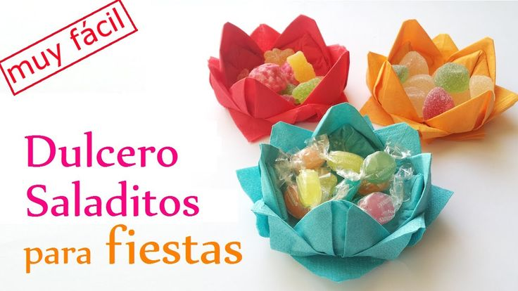 Manualidades: Contenedores de DULCES y SALADITOS para Fiestas (Muy fácil...