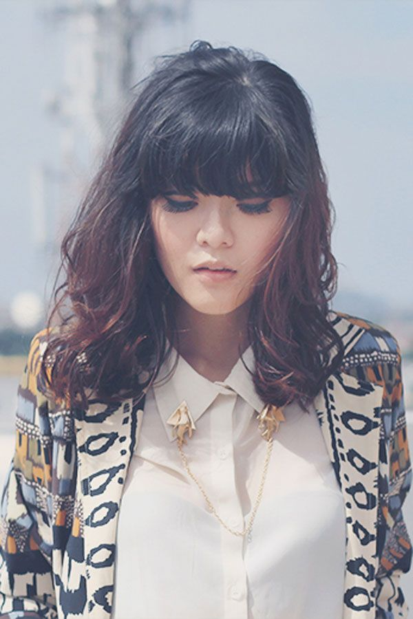 hair style for layer cut textured bangs hairstyle 2013 5945