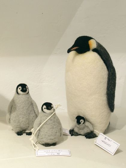 Miki - wool felted penguins