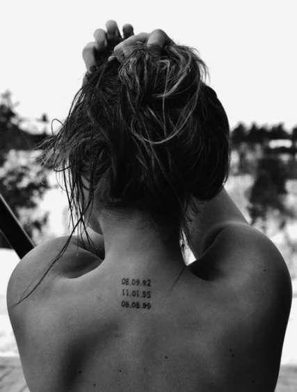 41 Ideas Tattoo Frauen Nacken Datum For 2019