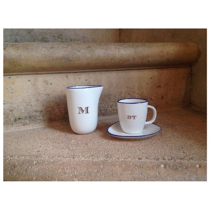 Personalisation sur vaiselle #brigittetanaka #ブリジットタナカ #personalisation #ceramique #vaiselles #ruesaintroch #paris #tokyo