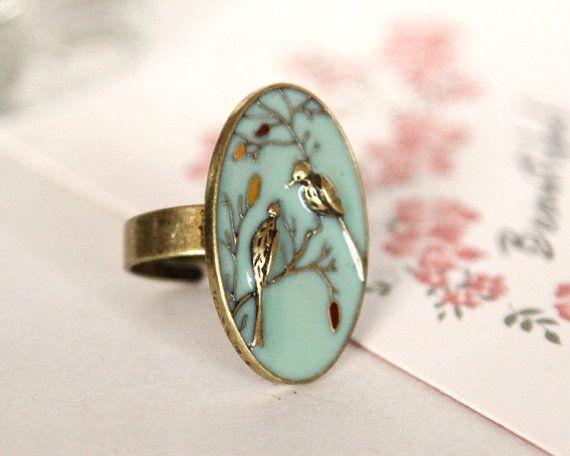 Vintage Bird Ring <3 want!