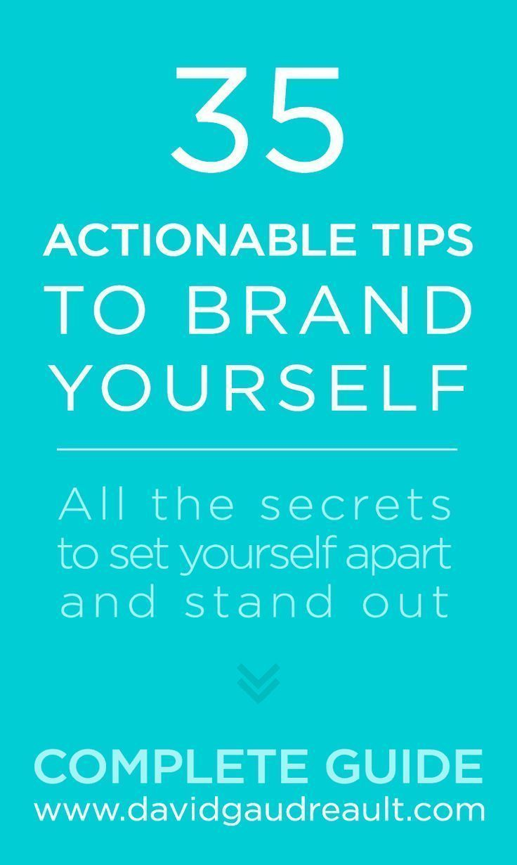 How To Brand Yourself 35 Easy Actionable Tips Complete Guide Brand You Branding Your Business Personal Branding