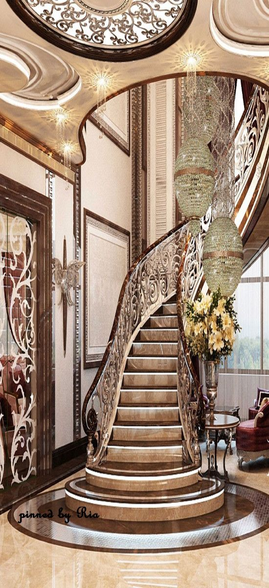 156 best images about sweeping staircases on pinterest for Grand staircase design