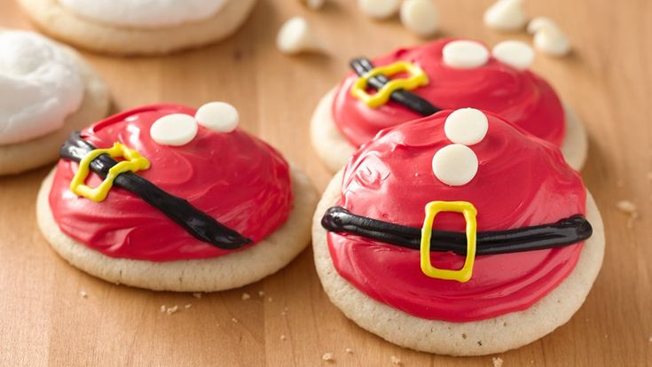 These fun and festive cookies are sure to add a little bit of jolly to your holiday!  Also great to leave out for Santa and his helpers.