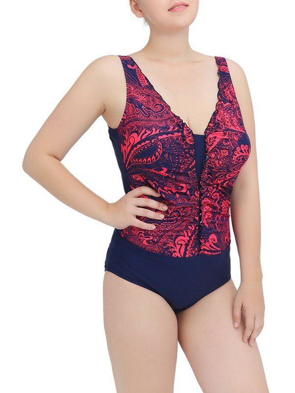 Printed Ruched One-Piece Swimwear #jewelry, #women, #men, #hats, #watches, #belts