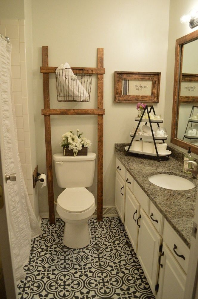 This will give you Joanna Gaines' style on a crazy low budget! [i'd love to try something like this in my bathroom.]                                                                                                                                                                                 More