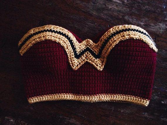 Wonder Woman Crochet Cropped top - wonder woman costume                                                                                                                                                                                 Mais
