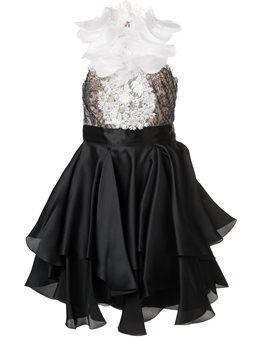 декорированное платье с рюшами