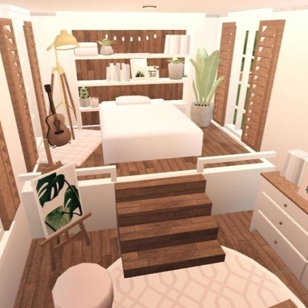 Aesthetic Bedroom For Bloxburg In 2021 Tiny House Layout Small House Design House Decorating Ideas Apartments