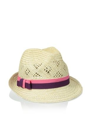 47% OFF Il Cappellaio Women's Johnny Straw Fedora (Pink/Orchid)