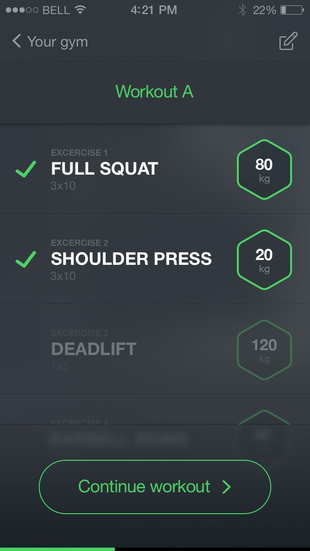 Fitness Tracker - Workout #UI