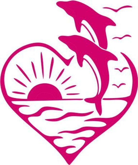 WickedGoodz Pink Tribal Sun Vinyl Decal Beach Bumper Sticker