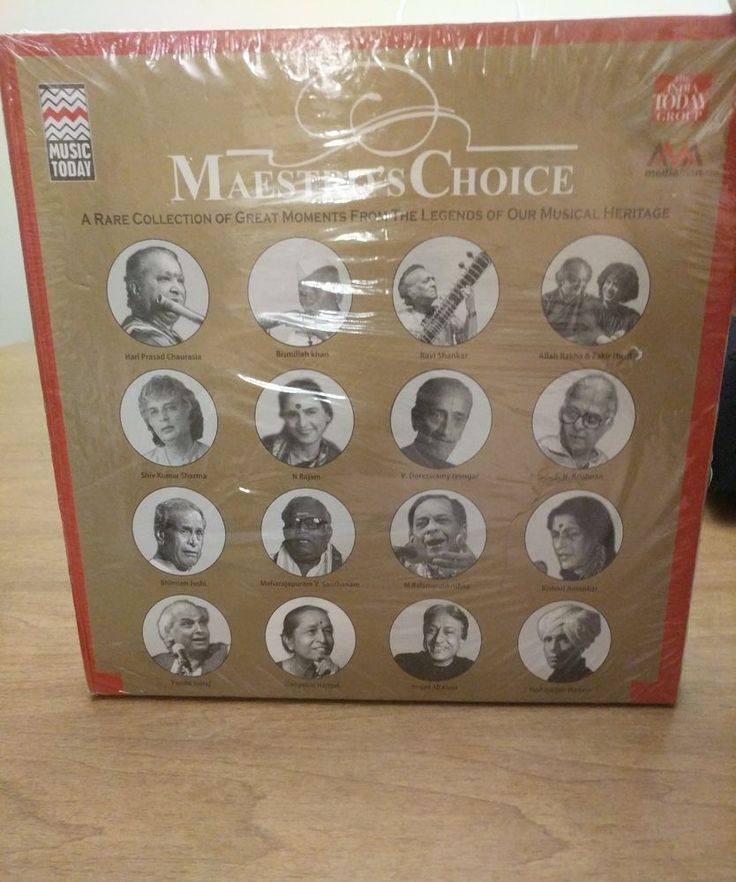 Maestros choice Indian music legends  16 CD Set (Music Today) India today group #IndiaPakistan